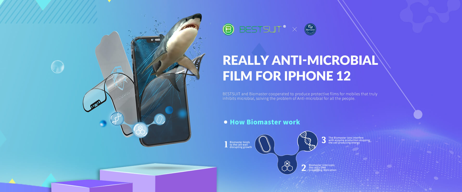 biomaster flexible glass screen protector